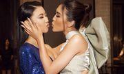 Tường Linh chu môi hôn Thuý Vân ngày gặp lại sau Hoa hậu Hoàn Vũ Việt Nam