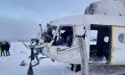 Trực thăng Nga hạ cánh khẩn cấp vì bão tuyết, 15 người bị thương