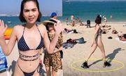 """Ngọc Trinh thả dáng trong bộ bikini """"tí hon"""" khiến dân tình """"đỏ mặt"""""""