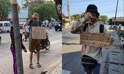Kiên Giang: Cơ quan chức năng vào cuộc vụ người nước ngoài cầm bảng xin tiền
