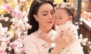 Trà Ngọc Hằng cùng con gái Sophia diện áo dài rực rỡ trong bộ ảnh xuân