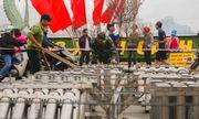 Hoàn tất lắp đặt các trận địa pháo hoa ở Hà Nội, sẵn sàng chào đón năm mới
