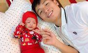 Con gái ốm, gia đình Bùi Tiến Dũng đón giao thừa trong bệnh viện