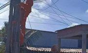 Thợ điện bị điện giật tử vong trên cột