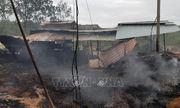 Bình Phước: Cháy cơ sở xử lý rác thải rộng 200m2, thiêu rụi nhiều máy móc