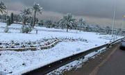 Hy hữu tuyết rơi phủ trắng thủ đô Baghdad của Iraq