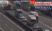 Video: Xe tải tông hàng loạt ôtô, một chiếc xe bị bốc cháy ngùn ngụt giữa đường