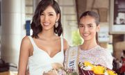 Hoàng Thùy tặng khẩu trang tự may cho Hoa hậu Siêu quốc gia