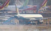 Máy bay của Vietnam Airlines nổ lốp khi chạy đà ở sân bay Tân Sơn Nhất