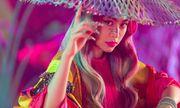 Hoàng Thùy Linh đưa tranh Hàng Trống vào MV mới, thể hiện hình ảnh hoàng hậu đầy quyền lực