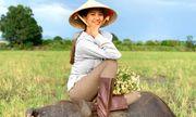 Hoa hậu H'Hen Niê về quê gặt lúa, Hương Ly chăn trâu phụ giúp gia đình