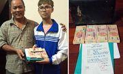 Hà Nội: Nhặt được túi đựng tiền, nam sinh lớp 10 trả lại cho thượng tá quân đội