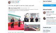 Tổng thống Mỹ 'vui mừng' khi nhà lãnh đạo Triều Tiên tái xuất