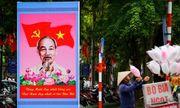 Đường phố Thủ đô trang hoàng cờ hoa kỷ niệm 130 năm ngày sinh nhật Bác