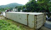 Điện Biên: Lại lật xe container trên dốc Nà Lơi