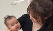 Quang Hải khoe ảnh đưa Huỳnh Anh về nhà, khen người yêu khéo dỗ trẻ con