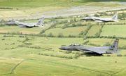 Tiêm kích của Không quân Mỹ rơi gần bờ biển nước Anh