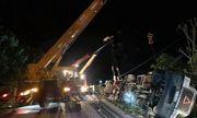 Thông tin mới nhất vụ container đè bẹp xe limousine, 3 người chết ở Quảng Ninh