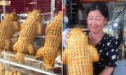 Chiếc bánh mì tạo hình cá sấu