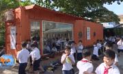 Biến container thành nơi đọc sách, học sinh có không gian tri thức học tập ấn tượng