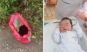 Xót xa bé trai sơ sinh kháu khỉnh bị bỏ rơi giữa trời nắng ở Hà Nội