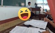 Thầy giáo say sưa giảng bài nhưng