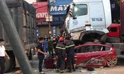 Vụ xe container đè ô tô con 3 người chết ở Hà Nội: Cả 3 phương tiện đều còn hạn đăng kiểm