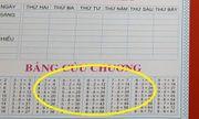 Trường tiểu học ở Bình Dương bán vở có in dấu trừ là dấu nhân: Hiệu trưởng trường học trần tình những gì?