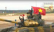 Đội tuyển xe tăng Việt Nam xuất sắc dẫn đầu trong trận ra quân tại Army Games