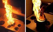 Video: Cháy chảo dầu, cô gái dùng thứ tối kỵ dập lửa khiến ai cũng ngán ngẩm