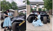 Đứng ôm mèo tạo dáng bên siêu xe sang, xịn, mịn ở trường Kiến Trúc, nữ sinh khiến cộng đồng mạng điêu đứng