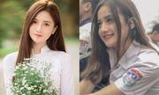 Nữ sinh Hà Nam diện áo dài trắng tinh khôi