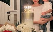 Phạm Hương khoe ảnh mừng sinh nhật cùng quý tử, chiếc nhẫn kim cương kích cỡ khủng