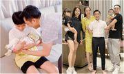 Cường Đô La mở tiệc mừng đầy tháng con gái, Đàm Thu Trang giấu dáng, khép nép bên chồng