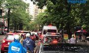Hà Nội mưa tầm tã, nhiều tuyến phố ùn tắc kinh hoàng, dân công sở