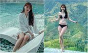 Huỳnh Anh khoe chân dài nuột nà bên bể bơi, không quên dằn mặt khiến anti-fan