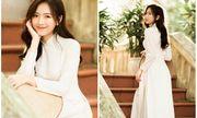 Nữ sinh ĐH Y diện áo dài trắng khoe vẻ đẹp mong manh tựa sương sớm đầu thu