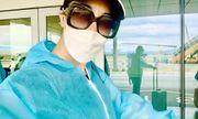 Ca sĩ Thu Phương về nước trên chuyến bay cứu hộ, tự cách ly ở Vân Đồn