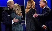 Hành động trái ngược giữa vợ hai ứng viên tổng thống sau màn tranh luận đầu tiên