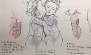 """Nữ sinh Hà Nội khiến dân tình """"tròn mắt"""" thán phục với những nét vẽ bằng bút bi không kém cạnh họa sĩ chuyên nghiệp"""