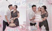 Bùi Tiến Dũng mừng con gái tròn một tuổi, ôm hôn vợ tình cảm hậu
