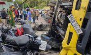 """Lâm Đồng: Xe tải """"trôi"""" tự do tông nát hàng loạt xe máy, một người bị thương"""
