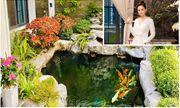 Cận cảnh khu vườn tràn ngập sắc hoa bao quanh căn biệt thự lộng lẫy của Lã Thanh Huyền