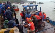 Chìm tàu chở 2.250 tấn xi măng, 10 người thoát chết