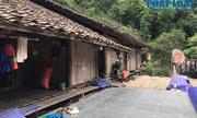Căn nhà sàn đơn sơ của bố mẹ chồng cô dâu Thu Sao ở quê nhà