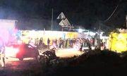 Tin tai nạn giao thông ngày 23/12: Xe máy đâm bay rào chắn đám tang, 1 người chết