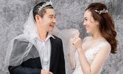 Cận cảnh bộ ảnh cưới ngọt ngào xen lẫn hài hước của NSND Công Lý và cô dâu kém 15 tuổi Ngọc Hà