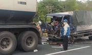 Tin tai nạn giao thông ngày 11/1: Húc đuôi container trên cao tốc Hà Nội- Hải Phòng, lái xe tải tử vong