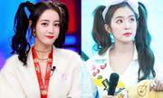 Kiểu tóc tưởng chỉ dành cho bé gái được sao nữ Hoa - Hàn đua nhau diện, xinh xắn không phân thắng bại