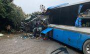 Hiện trường vụ tai nạn xe khách đấu đầu xe tải, 3 người đàn ông tử vong tại chỗ